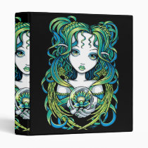 kallan, green, blue, lotus, flower, angel, gothic, crystal, ball, magic, fairy, faerie, fae, fairies, faery, fantasy, art, myka, jelina, water, angels, Binder with custom graphic design