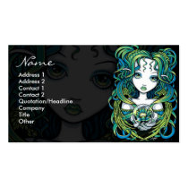 Free business card software design business cards online free kallan green blue lotus flower angel gothic crystal reheart Choice Image