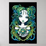 """""""Kallan"""" Green Lotus Water Angel Poster"""