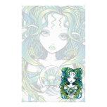 """""""Kallan"""" Green Lotus Water Angel Stationery"""