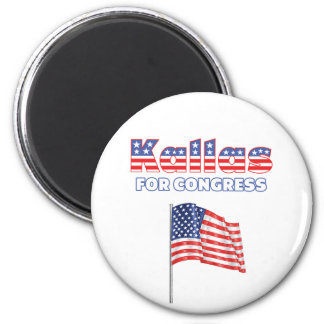 Kallas for Congress Patriotic American Flag 2 Inch Round Magnet