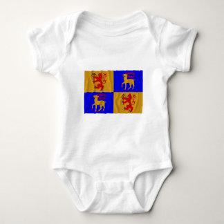 Kalmar län waving flag baby bodysuit