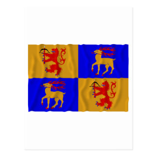 Kalmar län waving flag postcard
