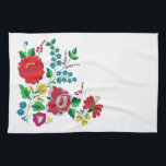 """Kalocsa Embroidery Hand Towel<br><div class=""""desc"""">Traditional Hungarian embroidery.</div>"""