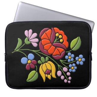 Kalocsa Embroidery - Hungarian Folk Art black bg.