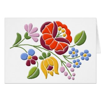 Kalocsa Embroidery - Hungarian Folk Art Cards