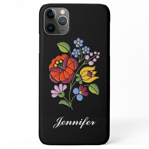 Kalocsa Embroidery - Hungarian Folk Art iPhone 11 Pro Max Case