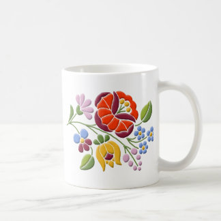 Kalocsa Embroidery - Hungarian Folk Art Coffee Mug