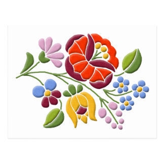 Kalocsa Embroidery - Hungarian Folk Art Post Cards