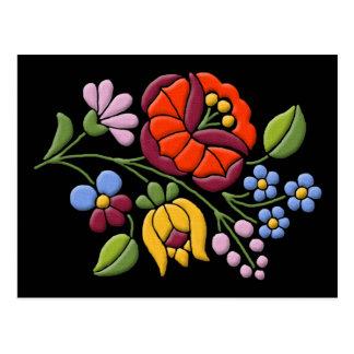 Kalocsa Embroidery - Hungarian Folk Art Postcards
