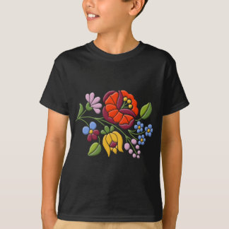 Kalocsa Embroidery - Hungarian Folk Art T-Shirt