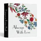 Kalocsa Flowers Cookbook 3 Ring Binder