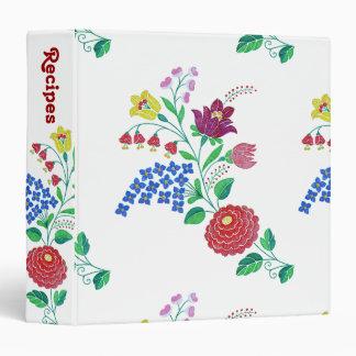 Kalocsa Flowers Recipe Binder