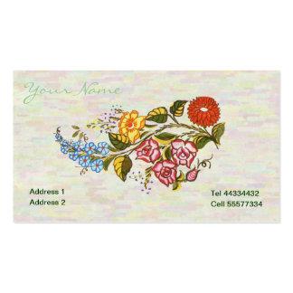 kalocsai floral motifs in light base business card