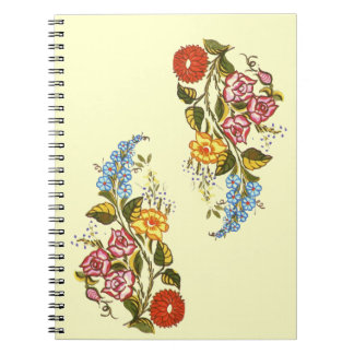 kalocsai floral motifs notebook