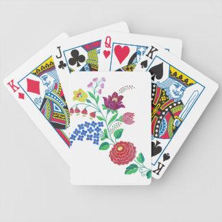 Kalocsai Flower Stem Bicycle Playing Cards