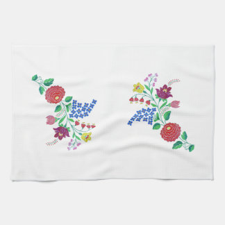 Kalocsai Flower Stem Hand Towel