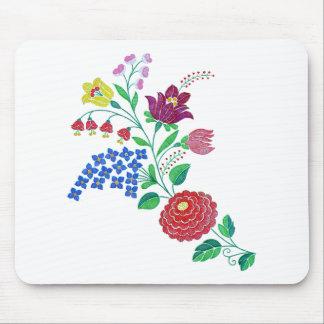 Kalocsai Flower Stem Mouse Pad