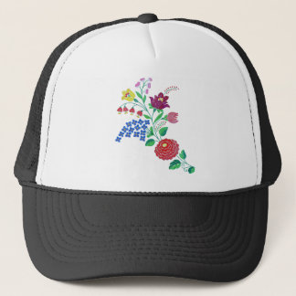 Kalocsai Flower Stem Trucker Hat