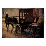 Kalona, cochecillo de Iowa Amish, cumpleaños Tarjetón