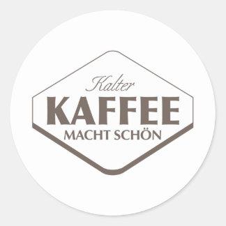 Kalter Kaffee Macht Schön Sticker 2