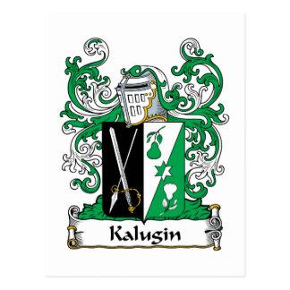 Kalugin Family Crest Postcard