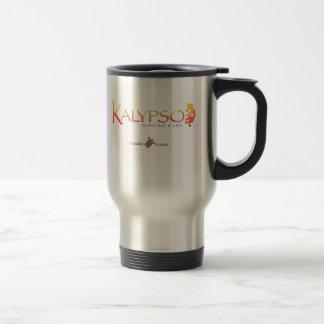 Kalypso Colorful Logo With Rainbow Sea Turtle Travel Mug