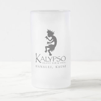 Kalypso Kane Logo in Black Frosted Glass Beer Mug
