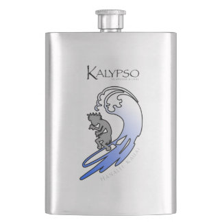 Kalypso Kane Surfing in Blue Flask