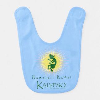 Kalypso Kane Yellow Sunburst Baby Bib