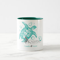 Kalypso Sea Turtle Two-Tone Coffee Mug