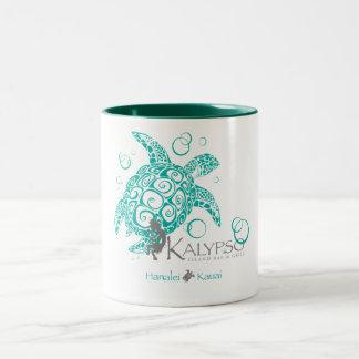 Kalypso Sea Turtle Two-Tone Coffee Mug