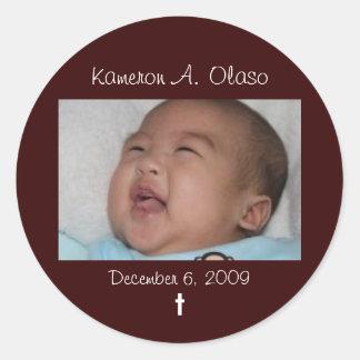 Kam2, Kameron A. Olaso, el 6 de diciembre de 2009, Etiquetas Redondas