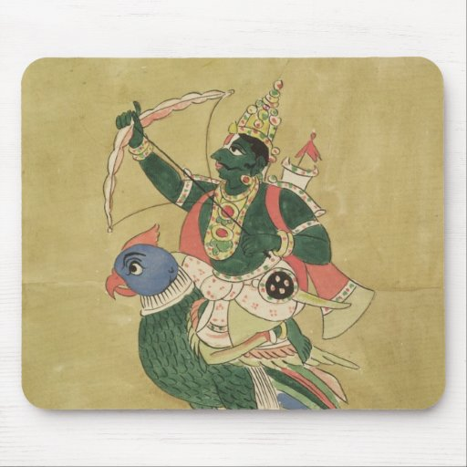 Kama, God of Love, 18th-19th century Mouse Pads