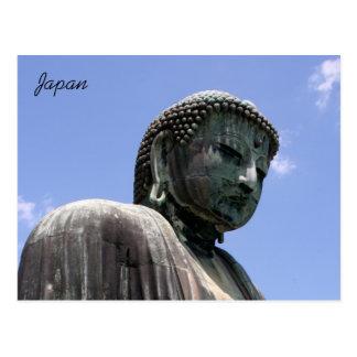 kamakura buddha face postcard