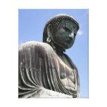 kamakura statue buddha stretched canvas prints