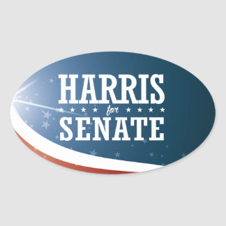 Kamala Harris 2016 Oval Sticker