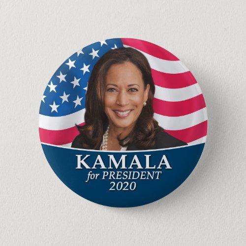 Kamala Harris 2020 _ Classic Photo Flag Design Button