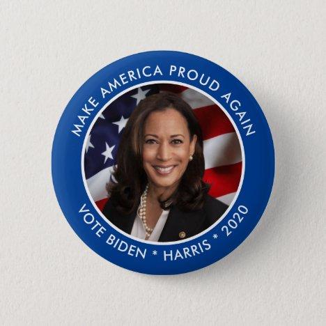 Kamala Harris 2020 Collectible Keepsake Photo Button