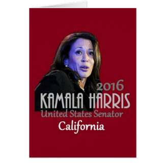 Kamala Harris Senate 2016 Card