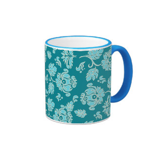 Kamaole Hawaiian Protea Tropical Floral Ringer Mug