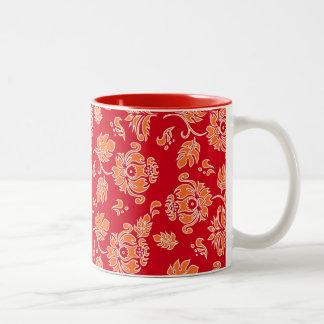 Kamaole Hawaiian Protea Tropical Floral Two-Tone Coffee Mug