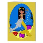Kamaria the Mermaid and Dolphin Card
