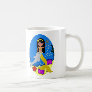 Kamaria the Mermaid with Dolphin Mug