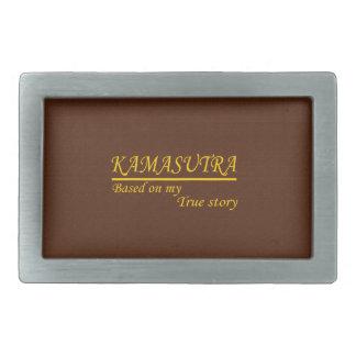 Kamasutra basó en mi historia verdadera hebilla de cinturon rectangular