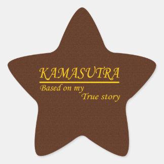 Kamasutra basó en mi historia verdadera pegatina en forma de estrella
