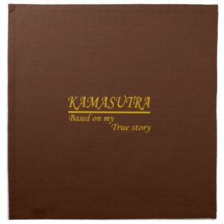 Kamasutra basó en mi historia verdadera servilletas