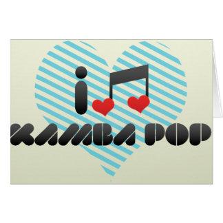Kamba Pop fan Greeting Card