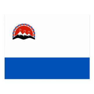 kamchatka flag russia country republic region postcard