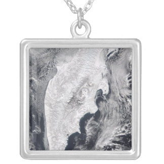 Kamchatka Peninsula, Eastern Russia Square Pendant Necklace